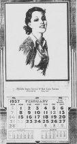Image of 1937 McGills Red Lion Calendar