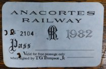 Image of 1982 Anacortes Railway pass