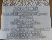 Image of Gravestone rubbing Amos and Anne Bowman