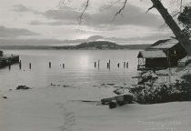 Image of D.XV.074 - Blakely Island wharf and boat house