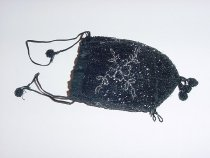 Image of black beaded purse