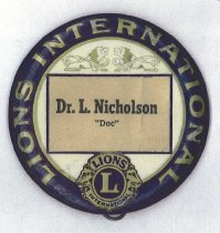 Image of Lions International pin