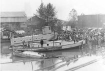 Image of ARK OF JUNEAU launch, probably Tacoma