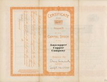 Image of stock certificate back