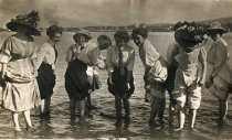 Image of 2016.074.002 - women wading off Guemes Island