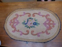 Image of Back of hand hooked rug