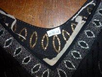 Image of Rhinestone collar on black evening dress