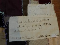 Image of 1883 crazy quilt maker information