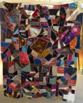 Image of Crazy quilt top, 1883