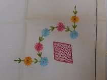 Image of Tablecloth for card table, detail