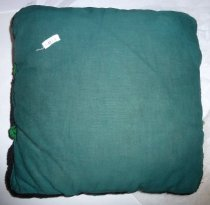 Image of Back of crochet topped pillow