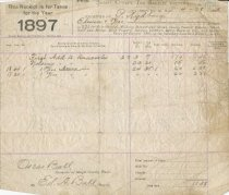 Image of 1897 tax receipt