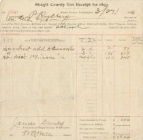 Image of 1893 tax receipt