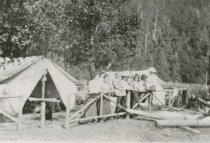Image of family camping
