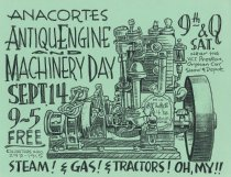 Image of 2002 Antique Machinery Day poster