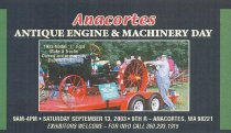 Image of 2003 Machinery Show business card