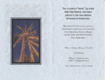 Image of inside of dedication invitation