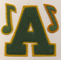 Image of Junior High letter and two music notes