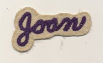 Image of name patch for letter sweater