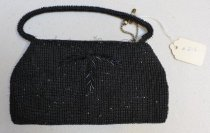 Image of Black beaded evening bag