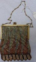 Image of Metal enameld mesh purse
