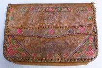 Image of Leather tooled purse, back
