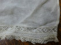 Image of White lawn dress detail