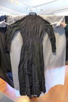 Image of Black cotton and lace dress