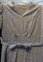 Image of Blue-gray lace dress detail