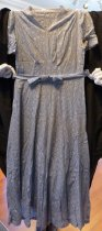 Image of Blue-gray lace dress