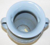 Image of blue pottery vase