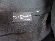 Image of Black drop-waist dress label