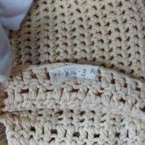 Image of White crocheted gloves detail