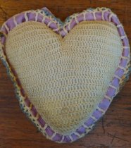Image of Crocheted pincushion back