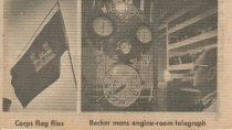 Image of Corps flag; Al Becker at telegraph