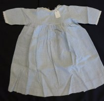 Image of Girls's blue gingham dress, c. 1900