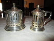 Image of Creamer and sugar bowl