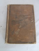 """Image of Practical English Grammar by Raub; English text  Inked inscription on front cover page (in script):  """"Ira H. French/ Virginia City/ Mont. Terr"""", """"B. Grammar H.J.G[ilbert].""""; also on inside: """"Sarah Gilbert / March. 7th 1890."""" and Bessie Gilbert / Virginia City / Jan 29, 1896"""" - Book"""