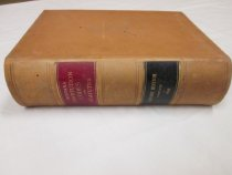 """Image of Leatherbound paper; 2105 pages, with circular added and stitched to overleaf; """"Montana Constitution Codes and Statutes, 1895, Sander's Edition""""; inscribed in pencil on inside front cover """"Theo. Muffly"""" - Book"""