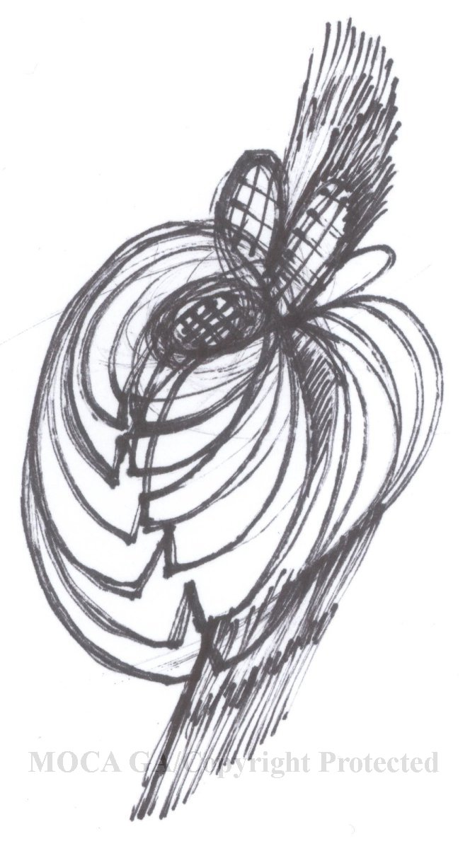 Title drawing from sketchbook dated march 24 1998 black pen