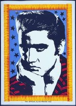 "Image of Joni Mabe ""The Official Elvis Prayer Rug"""