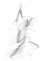 Image of Drawing from sketchbook dated August 2000-Sept. 2000, black pen and ink sketches, Madrid                                                                                                                                                                       - Herbert Creecy Papers