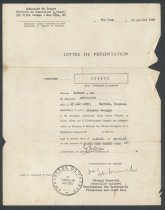 Image of French Documents, Study Abroad - Creecy Jr., Herbert LeeHerbert Creecy Papers
