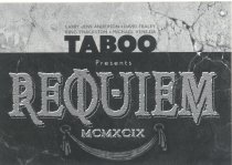 "Image of ""Requiem: Living Artists Eulogize a Dying Century,"" 1999  - Taboo Papers"