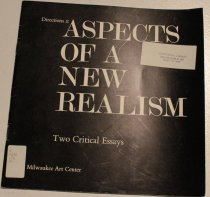 Image of Aspects of a new realism; two critical essays -