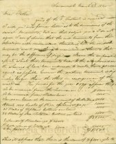 Image of Letter from William to Thomas Gibbons March 23, 1820 (page 1)