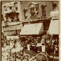 Image of Stagecoach in Parade on Deadwood's Main Street - 0004.428.001