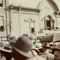 Image of William Jennings Bryan's Speech on Deadwood Main Street - 1890s