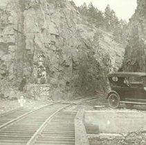 Image of Railroad Crossing in Deadwood - 1900s-1910s
