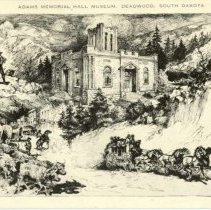Image of Adams Museum drawing by Wm. Mark Young  - 0070.792.001